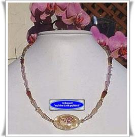 1177. Kristallglas-Perlenkette mit großer Tensha-Perle