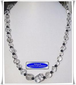 642. Bergkristall-Onyx-Kette