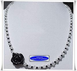 203. Bergkristall-Onyx-Kette (TS)