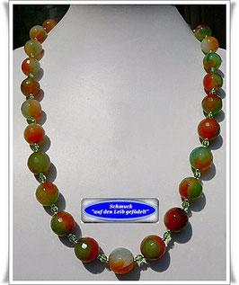 182. grün-braune Achat-Kette
