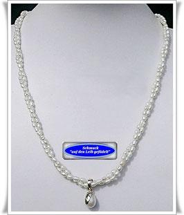 172. 2-reihige Perlenkette mit Anhänger