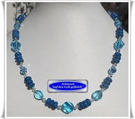 1590. türkisfarbene Kristallglaskette