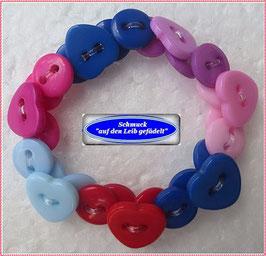 52) buntes Herzchen-Armband TS