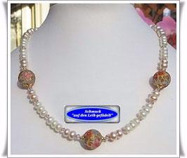1175. Süßwasser-Zuchtperlen-Collier mit Tensha-Perlen