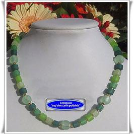 852. grüne Muranoglas-Polaris-Kette