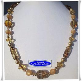 286. braune Glasperlenkette