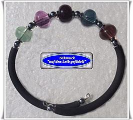 162) Memory Wire-Armbänder mit Fluorit-Linsen