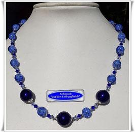 1887. wunderschönes blaues Murano-Glasperlen-Collier