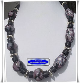 534. Millefiori-Trade Beads-Kette