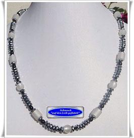 490. Polaris-Silber-Pyrit-Kette Set