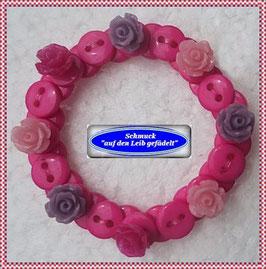 49) hübsches Kinderarmband mit Rosenknöpfen TS