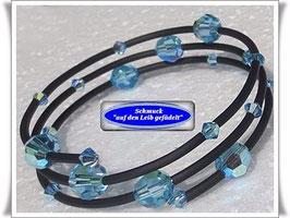 5) Memory Wire-Armbänder mit Swarovski-Perlen TS