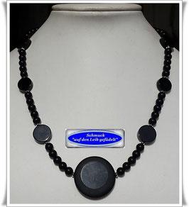 1700. schicke schwarze Onyx-Kette