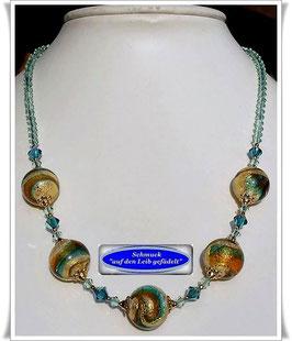 1932. schicke Muranoglas-Perlenkette