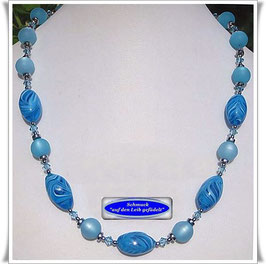 628. Muranoglas-Perlen-Kette Set