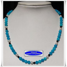 1712. blaue Jade-Onyx-Kette