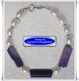 235) ausgefallenes Bandachat-Armband