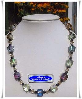 1085. Kristallglas-Würfel-Onyx-Kette