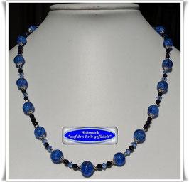 1879. elegante Muranoglas-Blaufluss-Kette