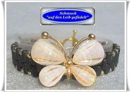 15) Armbänder mit Schmetterling-Zierknopf