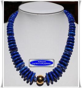 2006. blaue Howlith-Scheiben-Kette