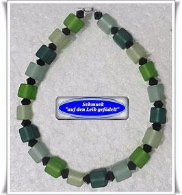 178) grünes Polaris-Swarovski-Armband