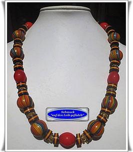 162. auffällige Trade Beads-Kette
