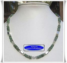1362. edle Smaragd-Prasiolith-Kette