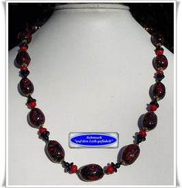 1912. außergewöhnliche Muranoglas-Perlenkette