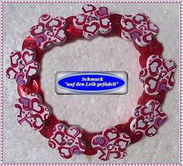 32) hübsches Holzknöpfe-Armband TS