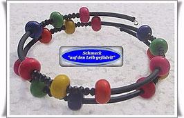137) Memory Wire-Armband mit Türkissteinen TS