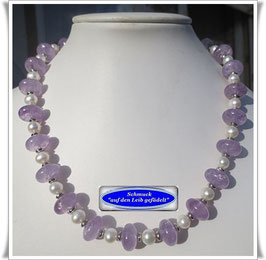 1379. Lavendel-Amethyst-Collier