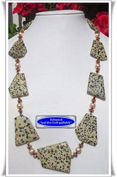 585. Dalmatiner Jaspis-Kette