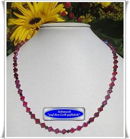 1397. Swarovski-Perlenkette in Beerentönen