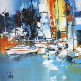"""""""Lucarne marine"""" - 50x50"""