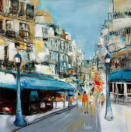 """""""Rue Montorgueil 2ème"""" - 80x80"""