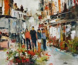 """""""Rue fleurie"""" - 54x65"""