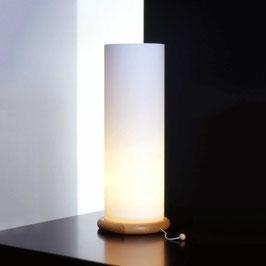 Design Tischleuchte Opalglas Zylinder