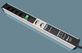 geerdet und geschirmte Profi-PC Stromleiste 4+2 mit ÜS & Frequenzfilter