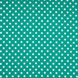 Dots grün/weiß - Baumwolljersey