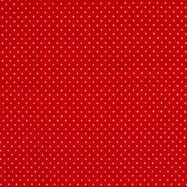 Dotties rot/weiß - Baumwolljersey