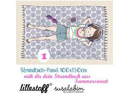 Strandtuch Mädchen 1-3 - Biosommersweat Lillestoff Susalabim