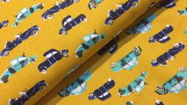 Cool cars ocker - Popeline