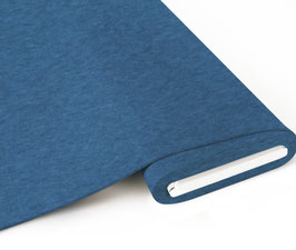 Biojersey uni blau meliert