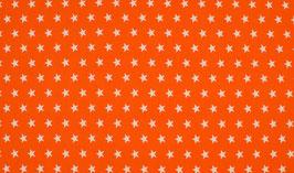 Sterne orange - Baumwollstoff