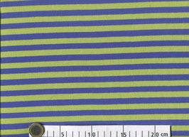 Streifen blau/grün - Baumwollinterlock