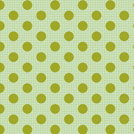 Tilda 110 Medium dots green - Patchworkstoff Tilda