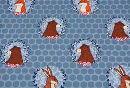 Molly blau - Bär Hase Fuchs - Sommersweat