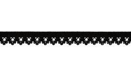 Spitzengummi/Unterwäschegummi, 13 mm - schwarz