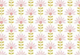 Graphic Flower weiß - beschichtete Baumwolle